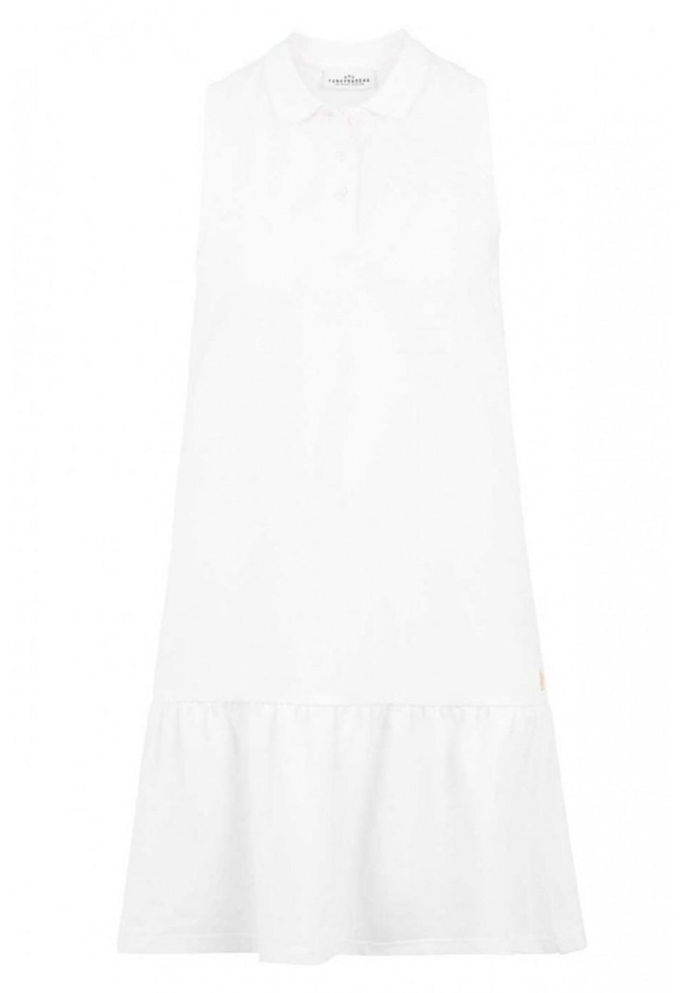 Платье мини белое