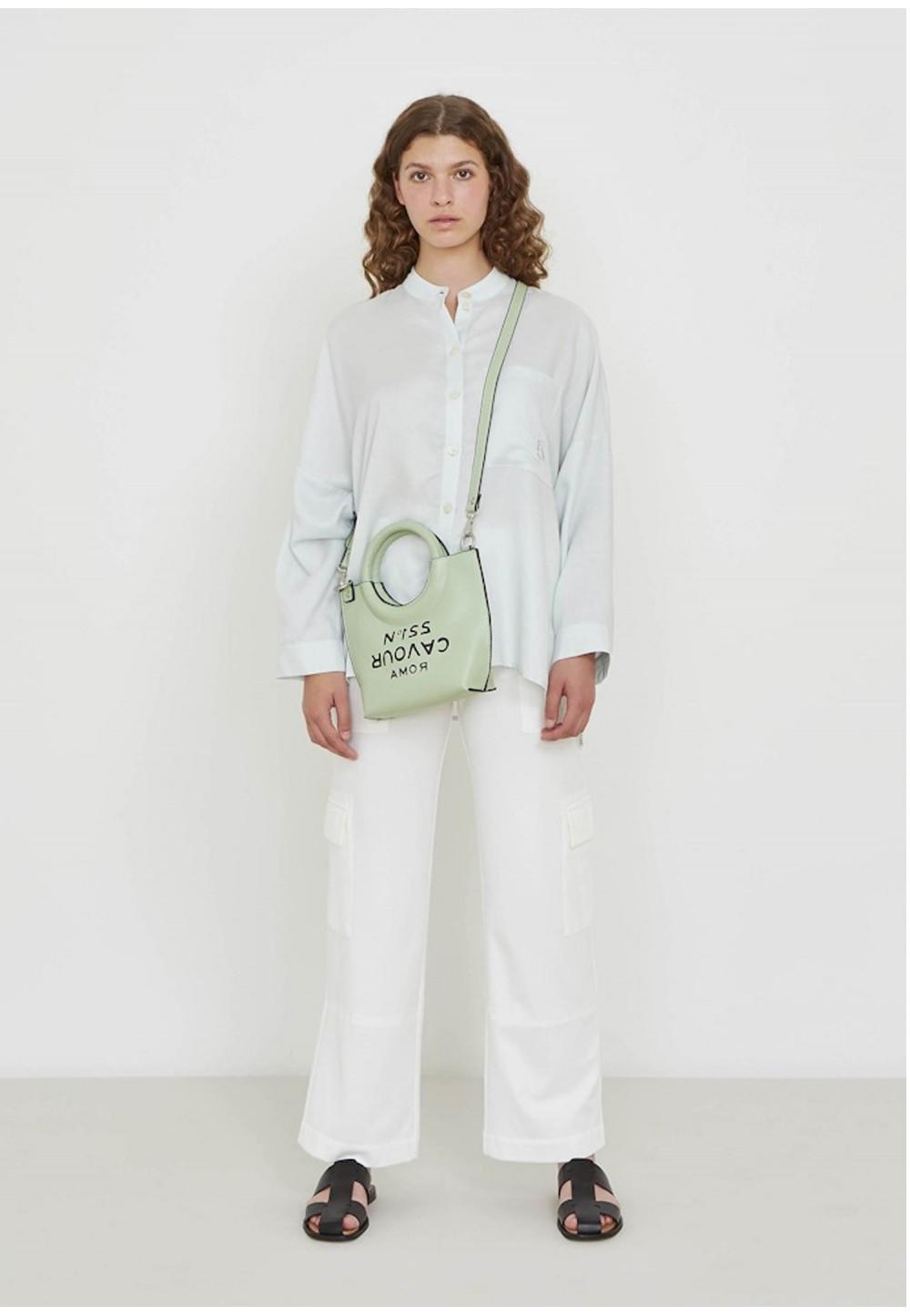 Классическая сумка через плечо из искусственной кожи