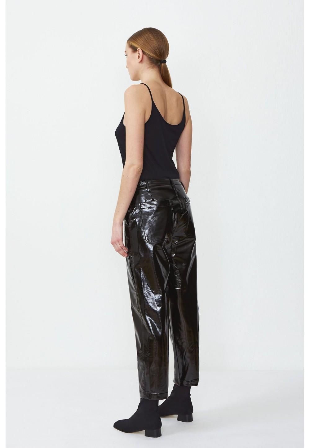 Блестящие брюки из винила