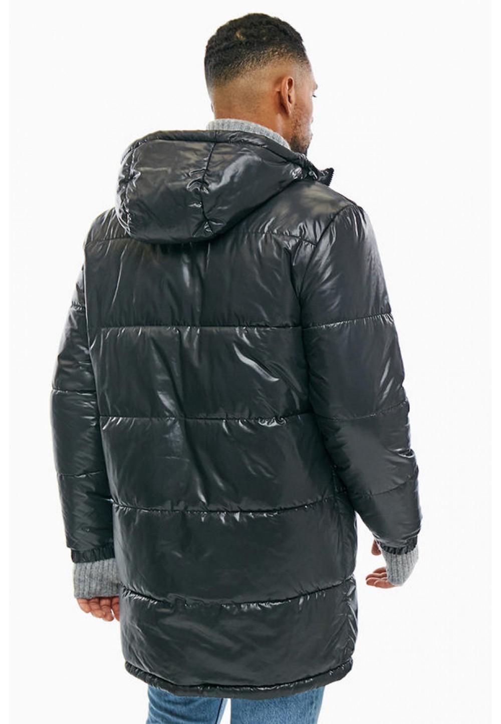 Длинная черная куртка