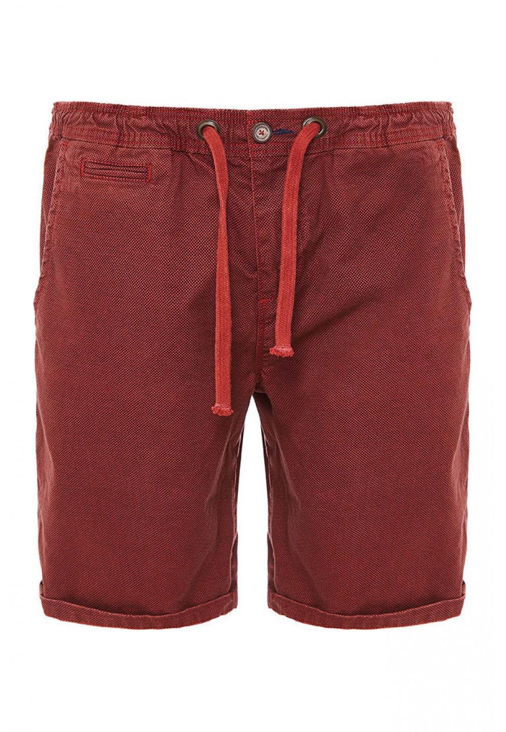 Хлопковые бордовые шорты