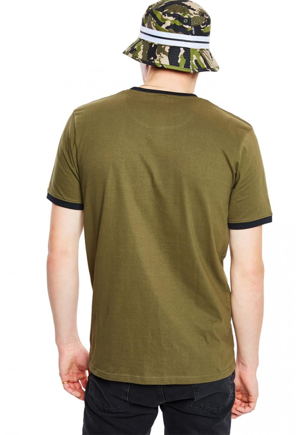 Хлопковая футболка хаки