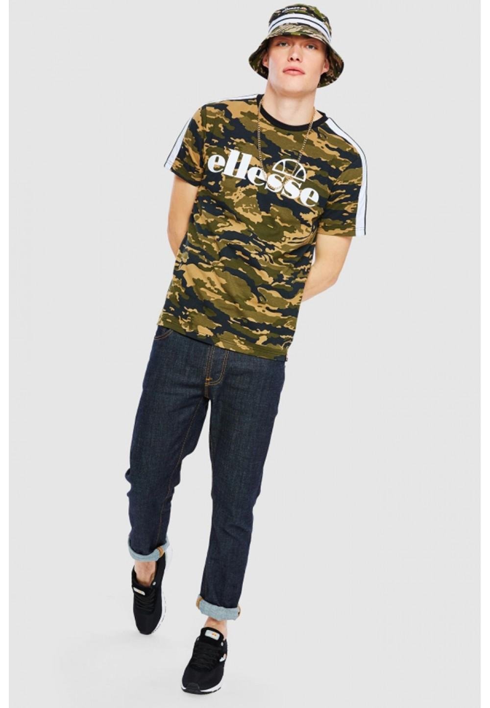 Хлопковая камуфляжная футболка