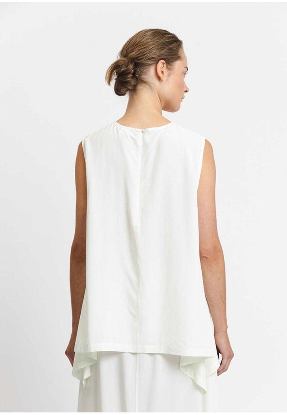 Вільна біла блуза