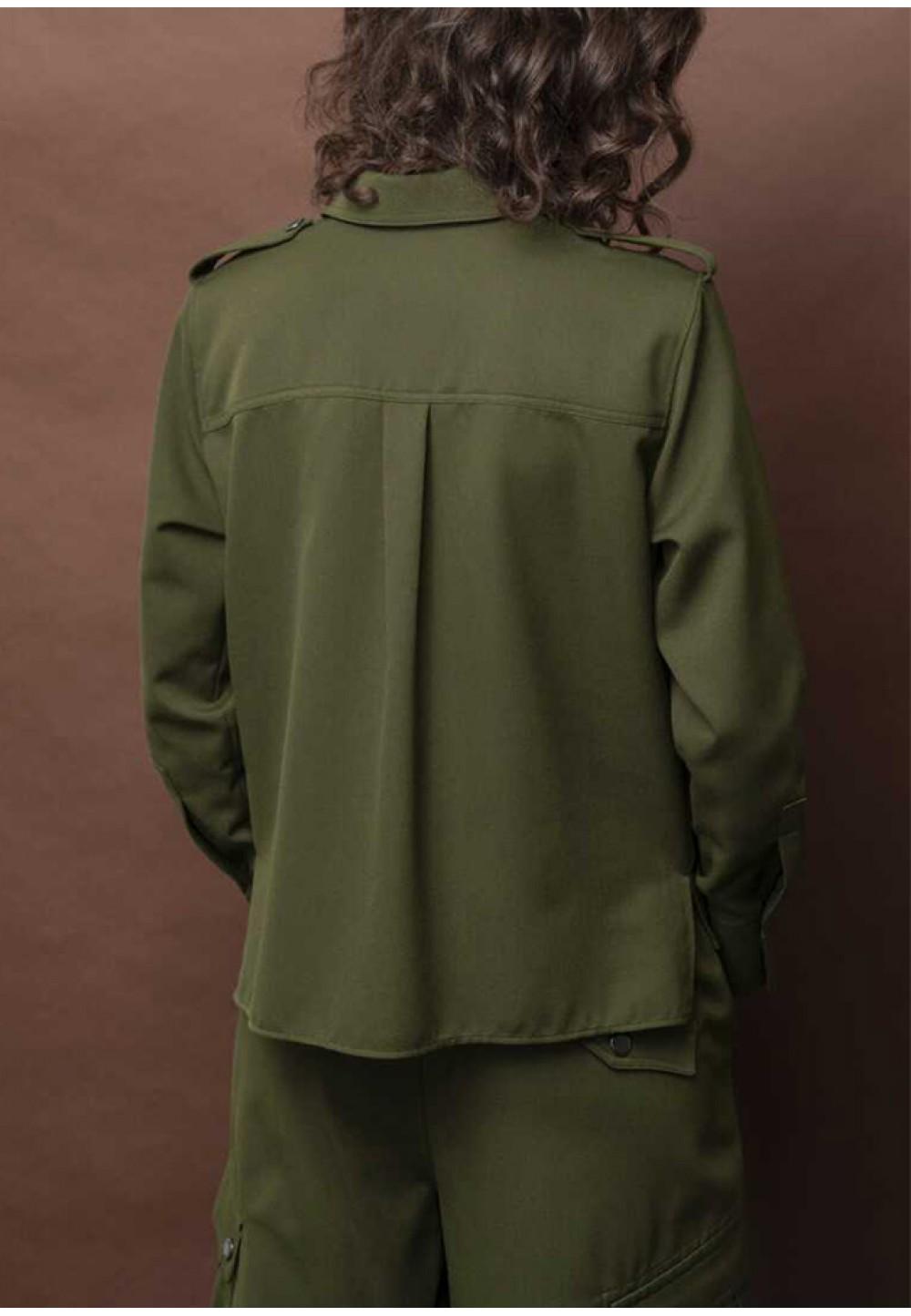 Женская блуза цвета хаки