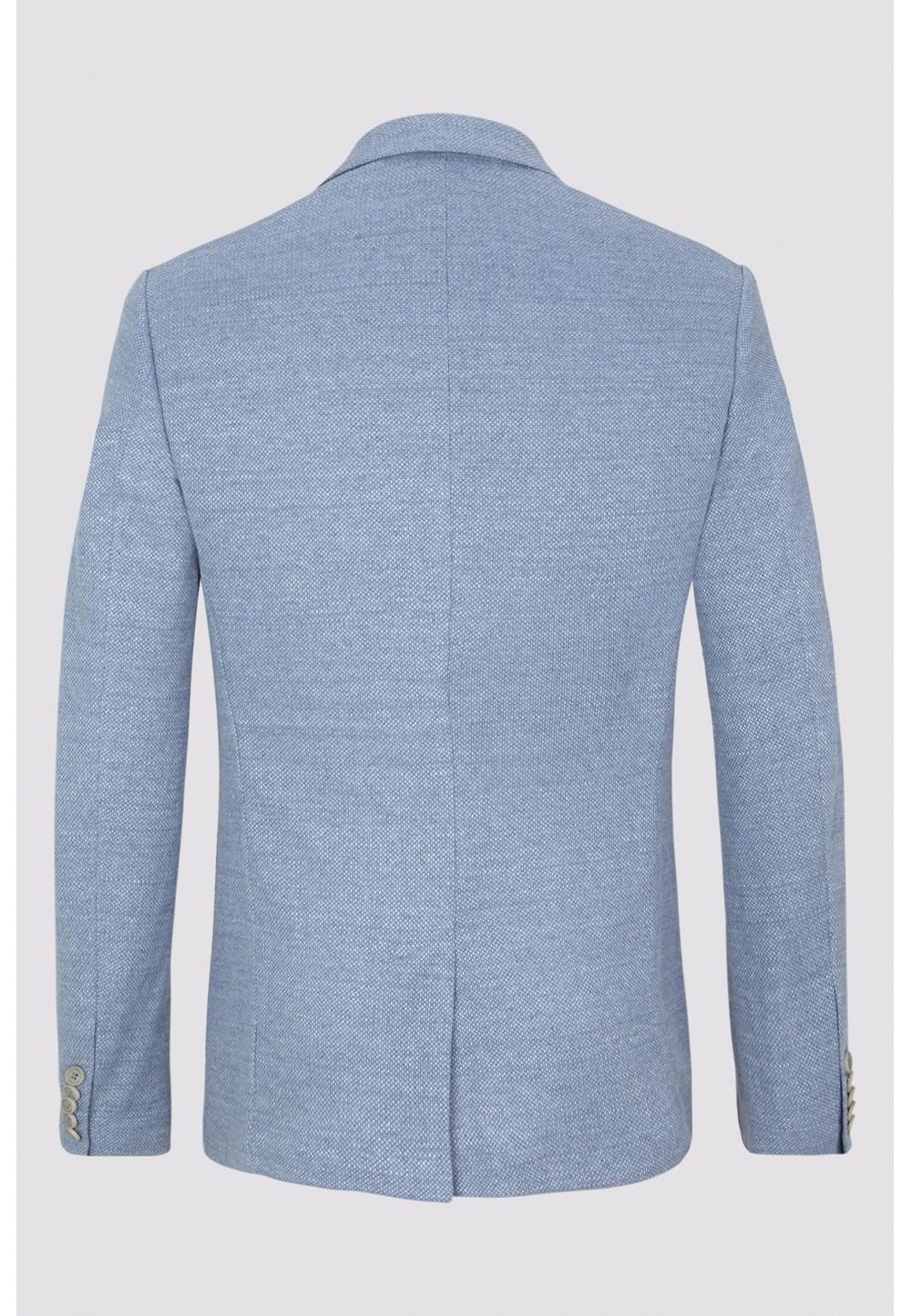 Голубой пиджак с карманами