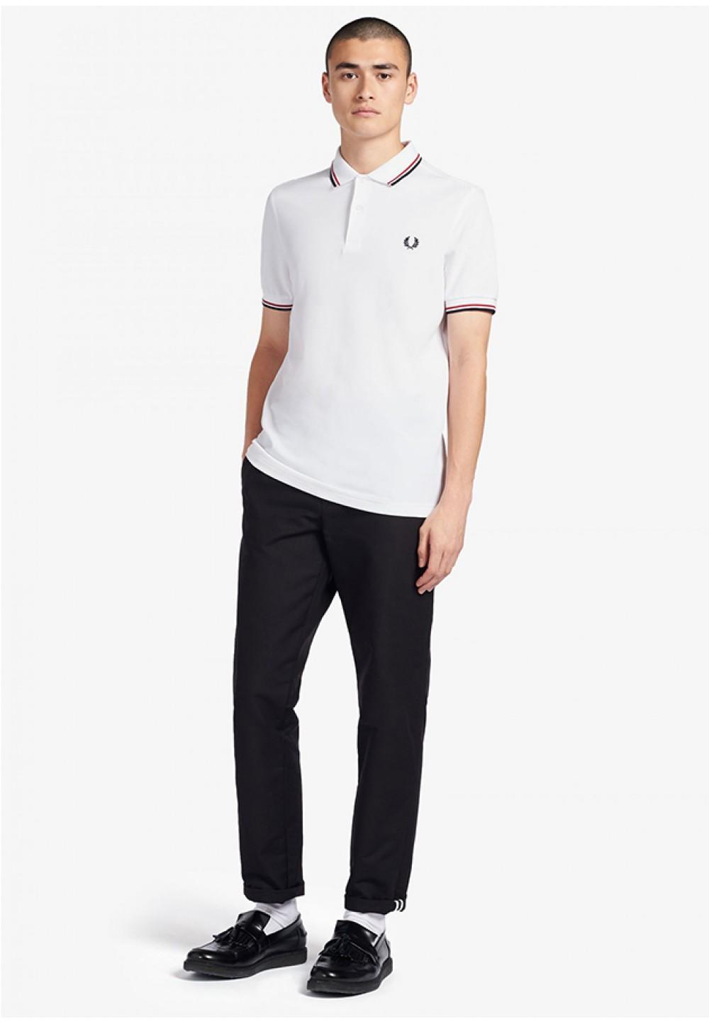 Хлопковая футболка-поло