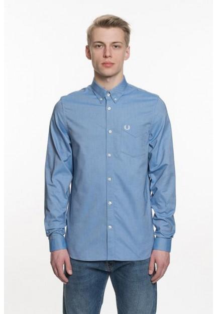 Голубая рубашка с вышивкой