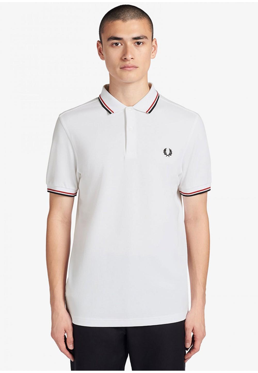 Мужская футболка-поло белого цвета