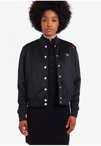 Жіноча куртка-бомбер з логотипом на спині