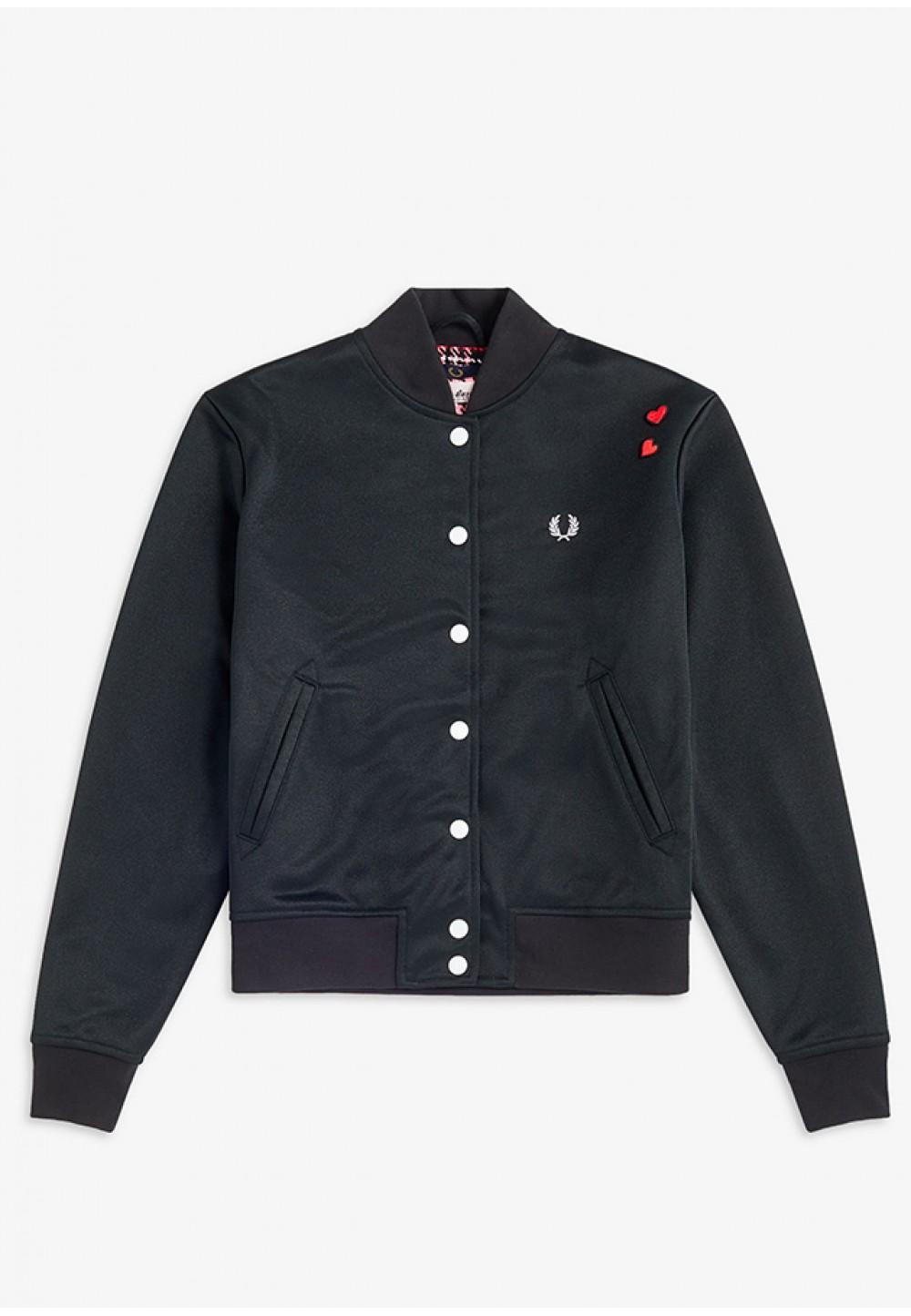 Женская куртка-бомбер с логотипом на спине