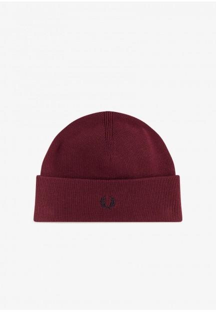 Бордова шапка з вовни мериноса
