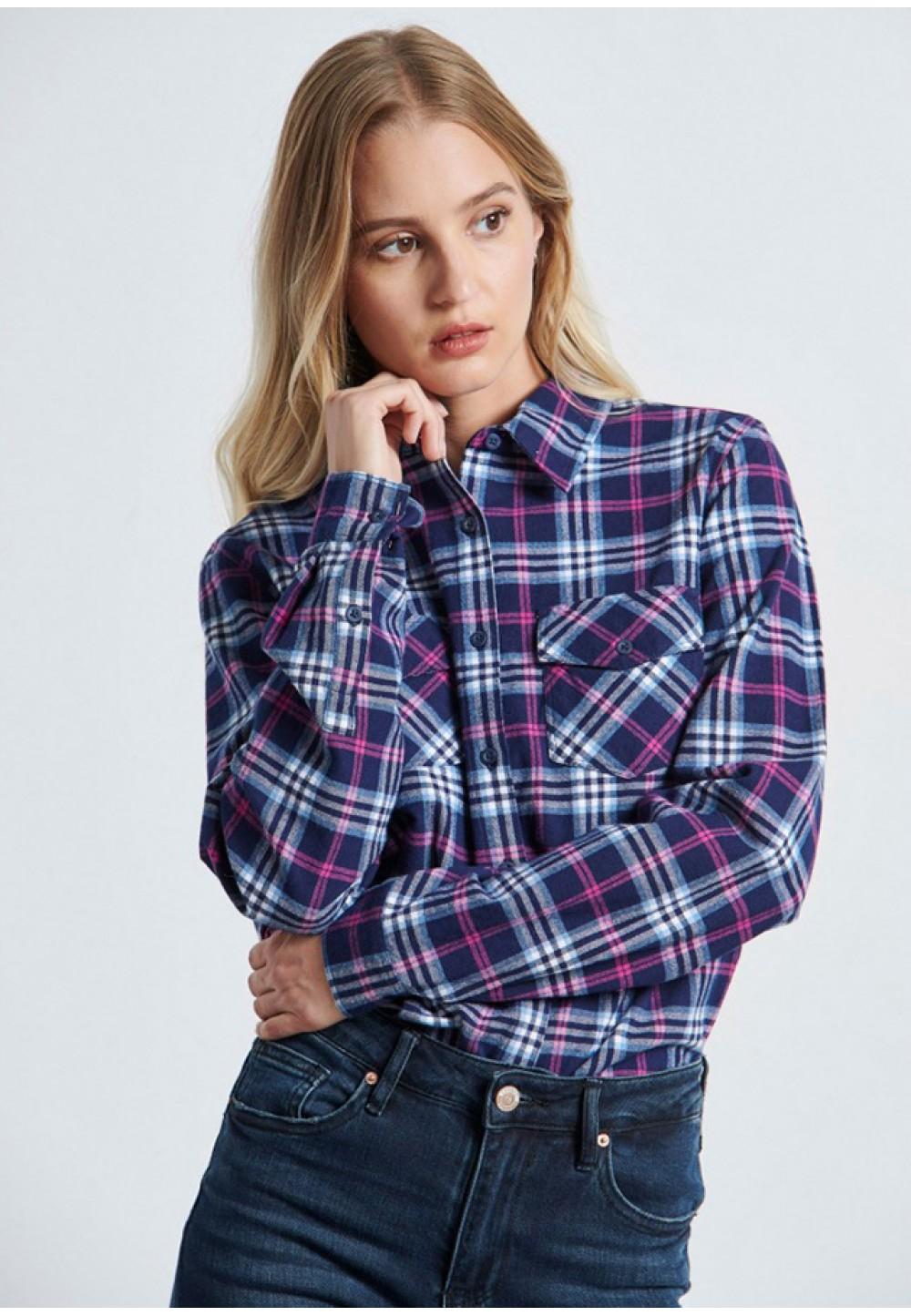 Женская клетчатая рубашка