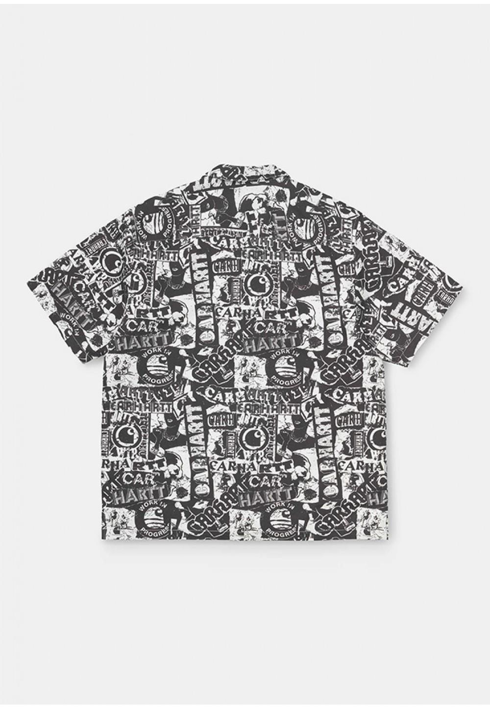 Черно-белая мужская рубашка