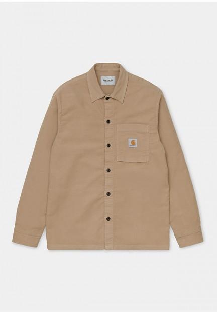 Стильная мужская рубашка песочного цвета