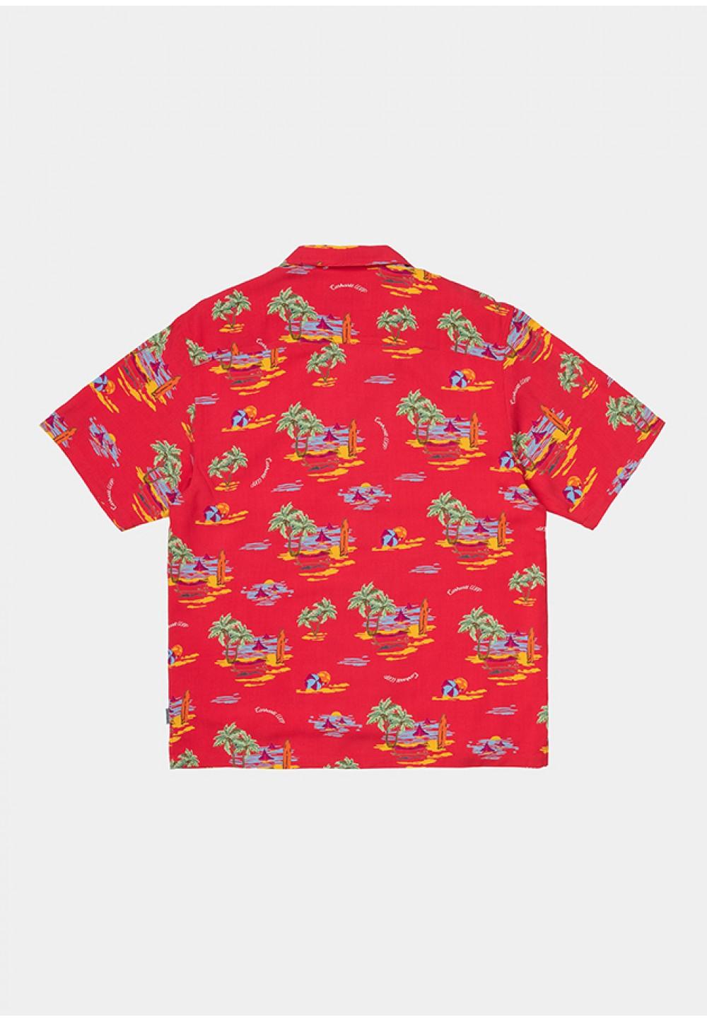 Красная рубашка с принтами