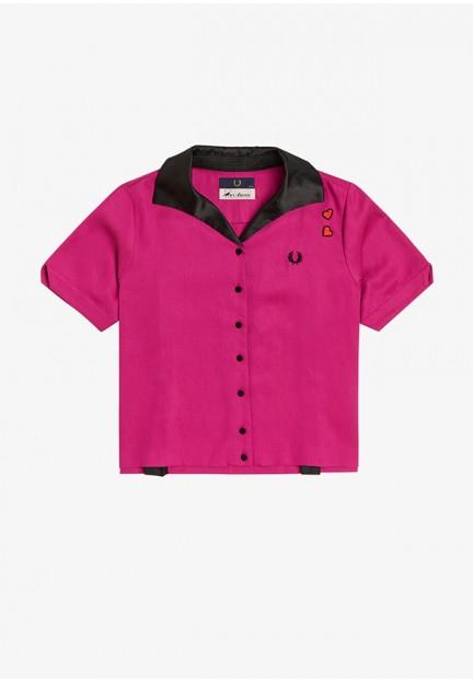 Женская рубашка с коротким рукавом