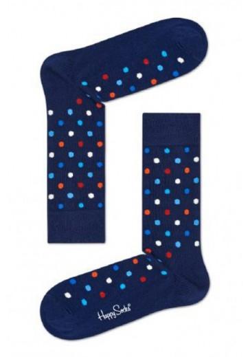 Носки синие в горох