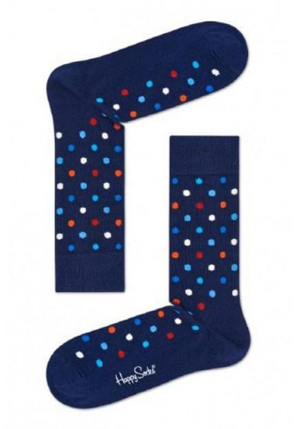 Шкарпетки сині в горох