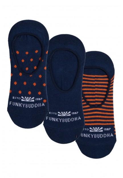 Шкарпетки-сліди з візерунком, набір iз 3 штук