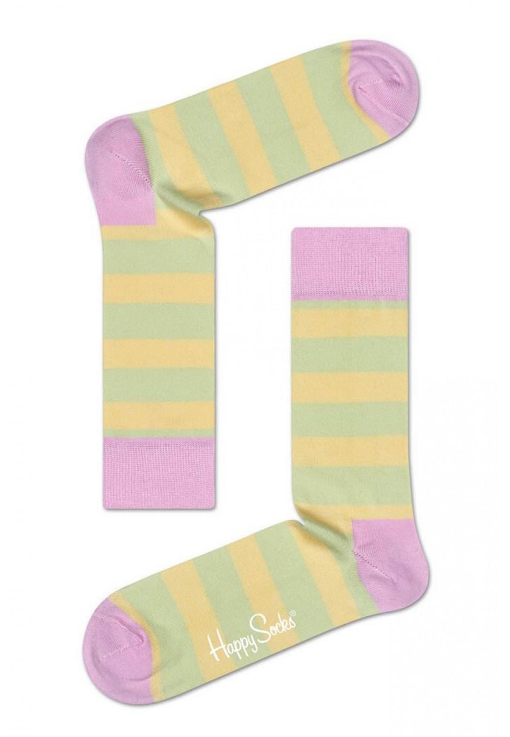 Носки в цветную полоску