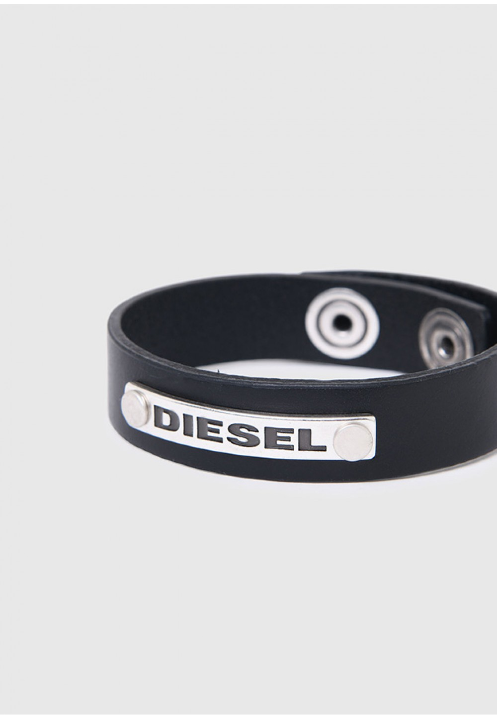 Шкіряний браслет з пластиною Diesel