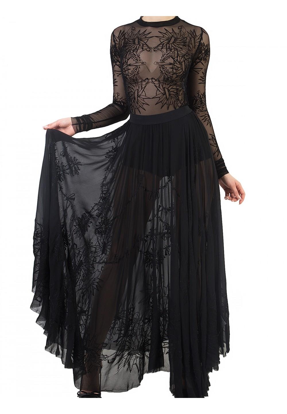 Прозрачная юбка в пол