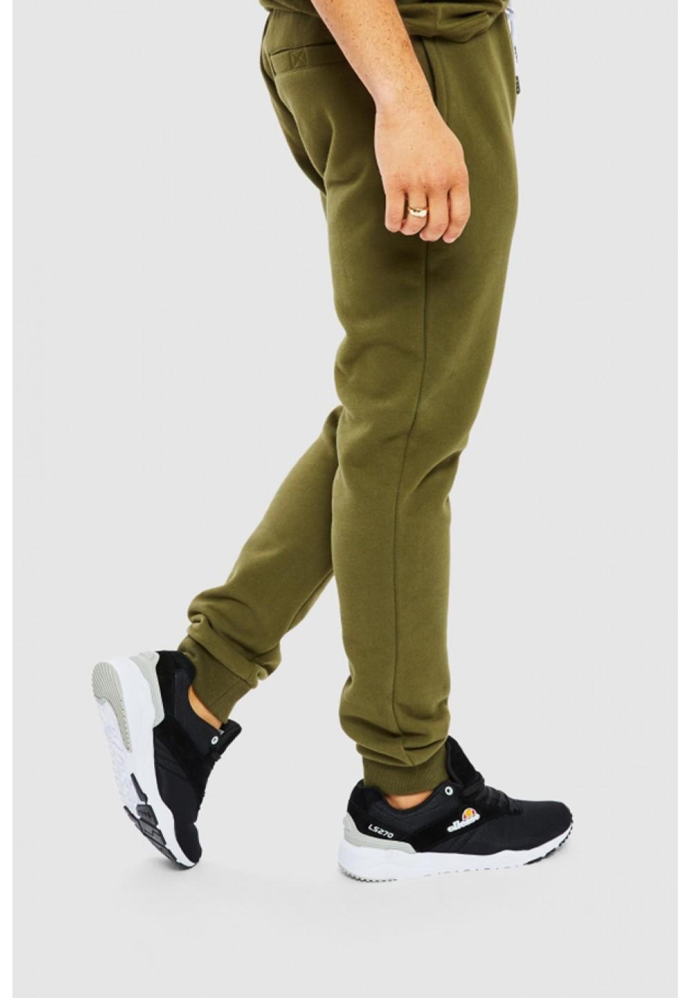 Спортивные брюки хаки с манжетами