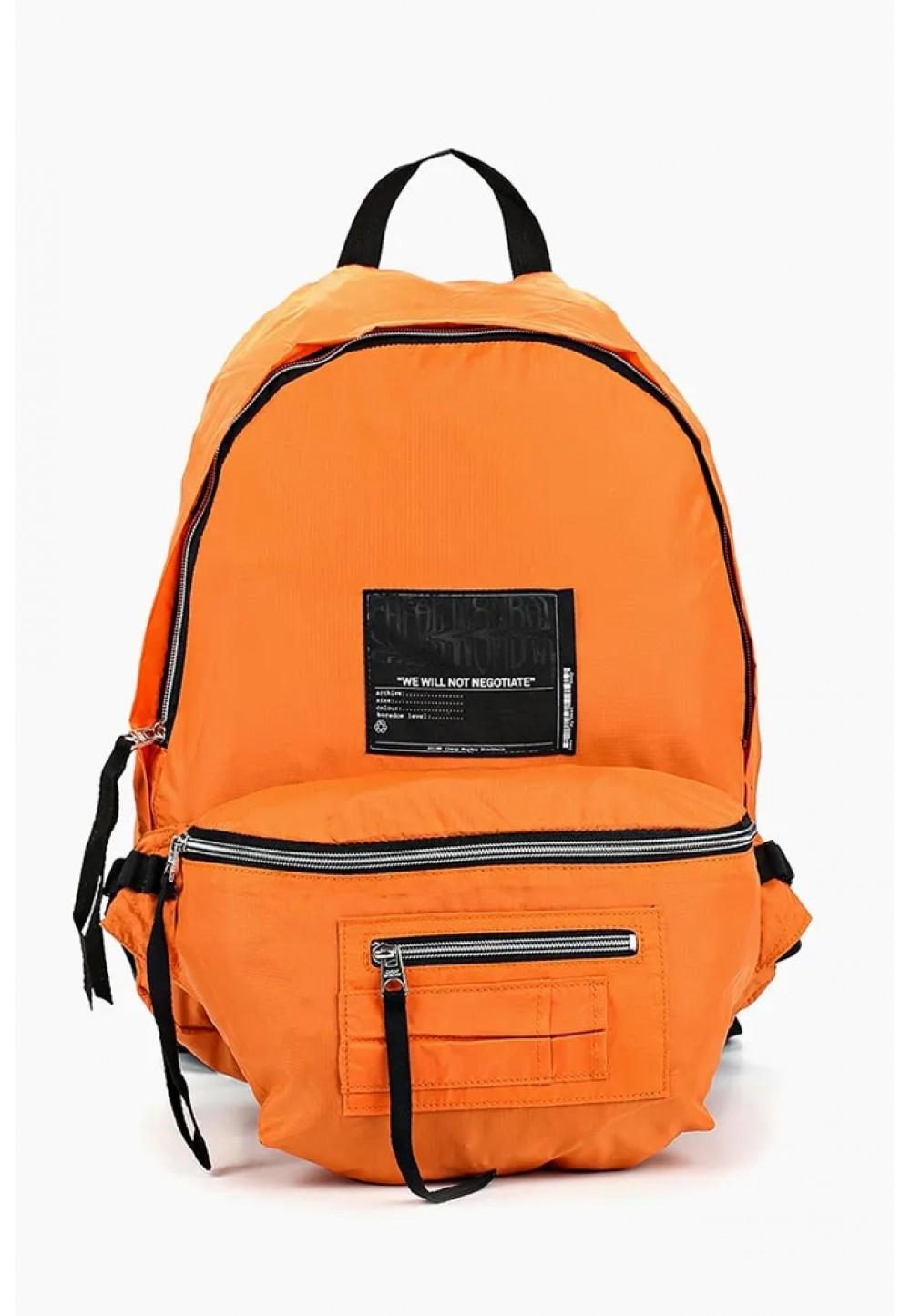 Оранжевый рюкзак с карманами