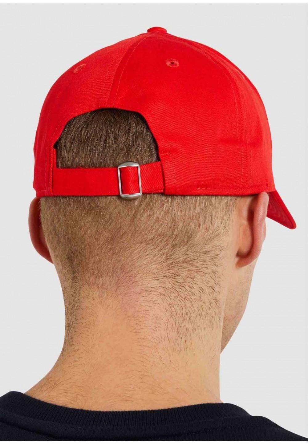 Красная бейсболка унисекс с цветным лого