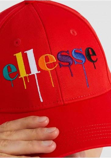 Червона бейсболка унісекс з кольоровим логотипом