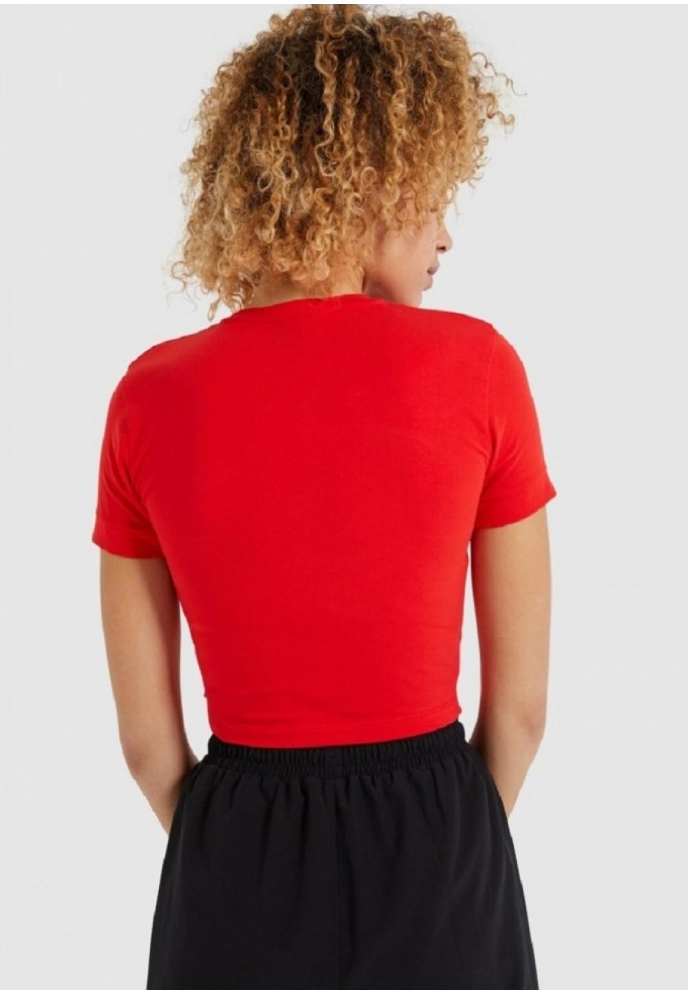 Красная футболка-топ