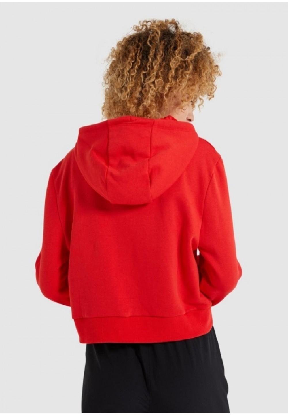 Червоний худі Toma з райдужним логотипом