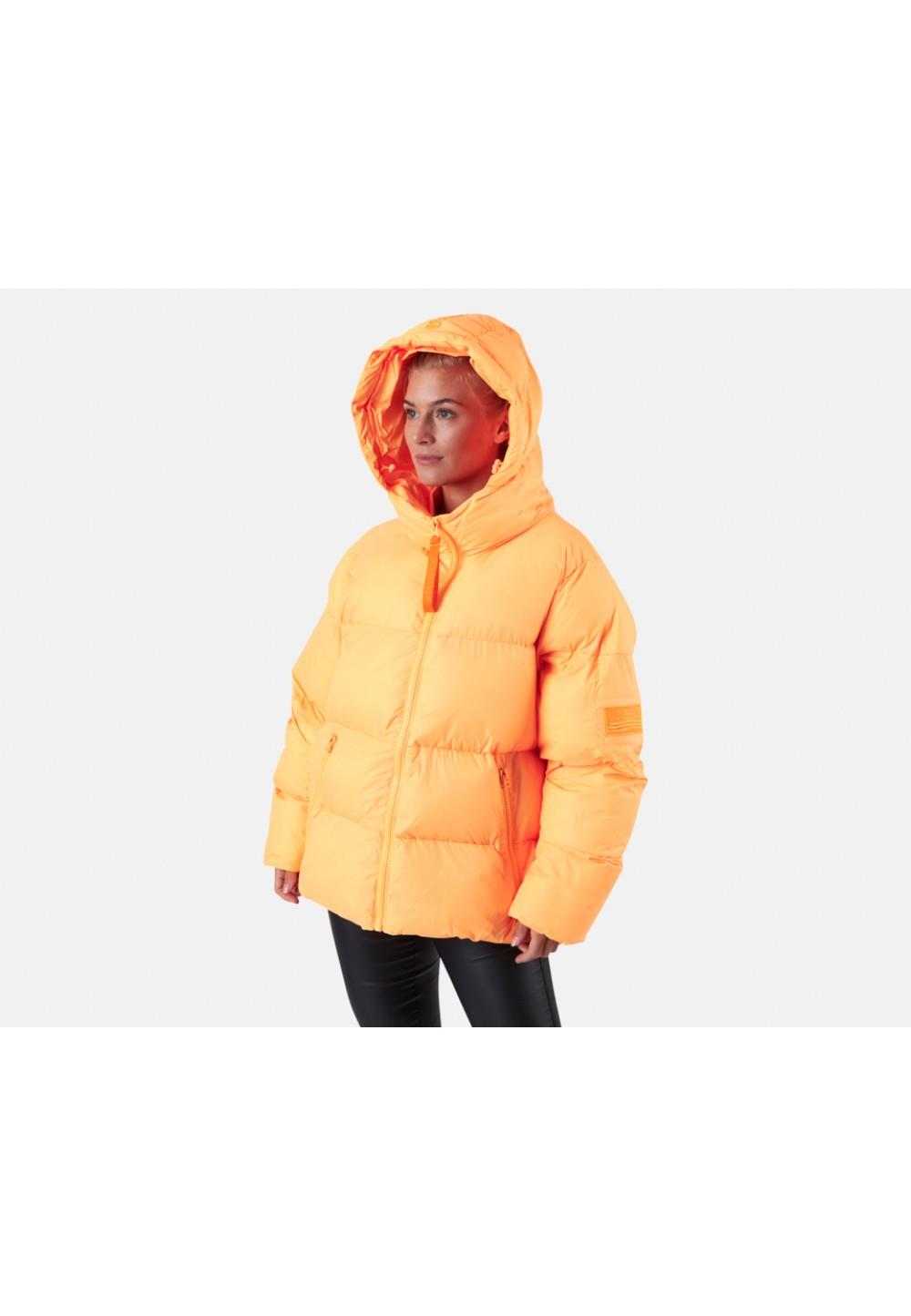 Оранжевая теплая куртка oversize от бренда SVEA