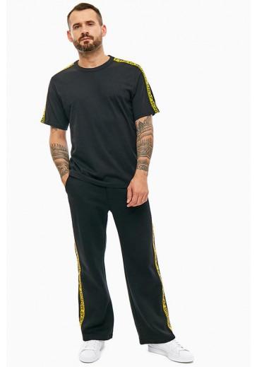 Трикотажные спортивные брюки прямого кроя