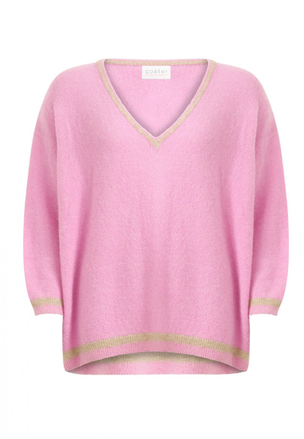 Розовая кофта свободного кроя