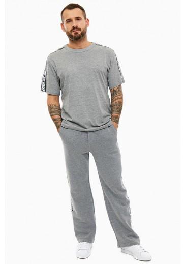 Трикотажные серые брюки