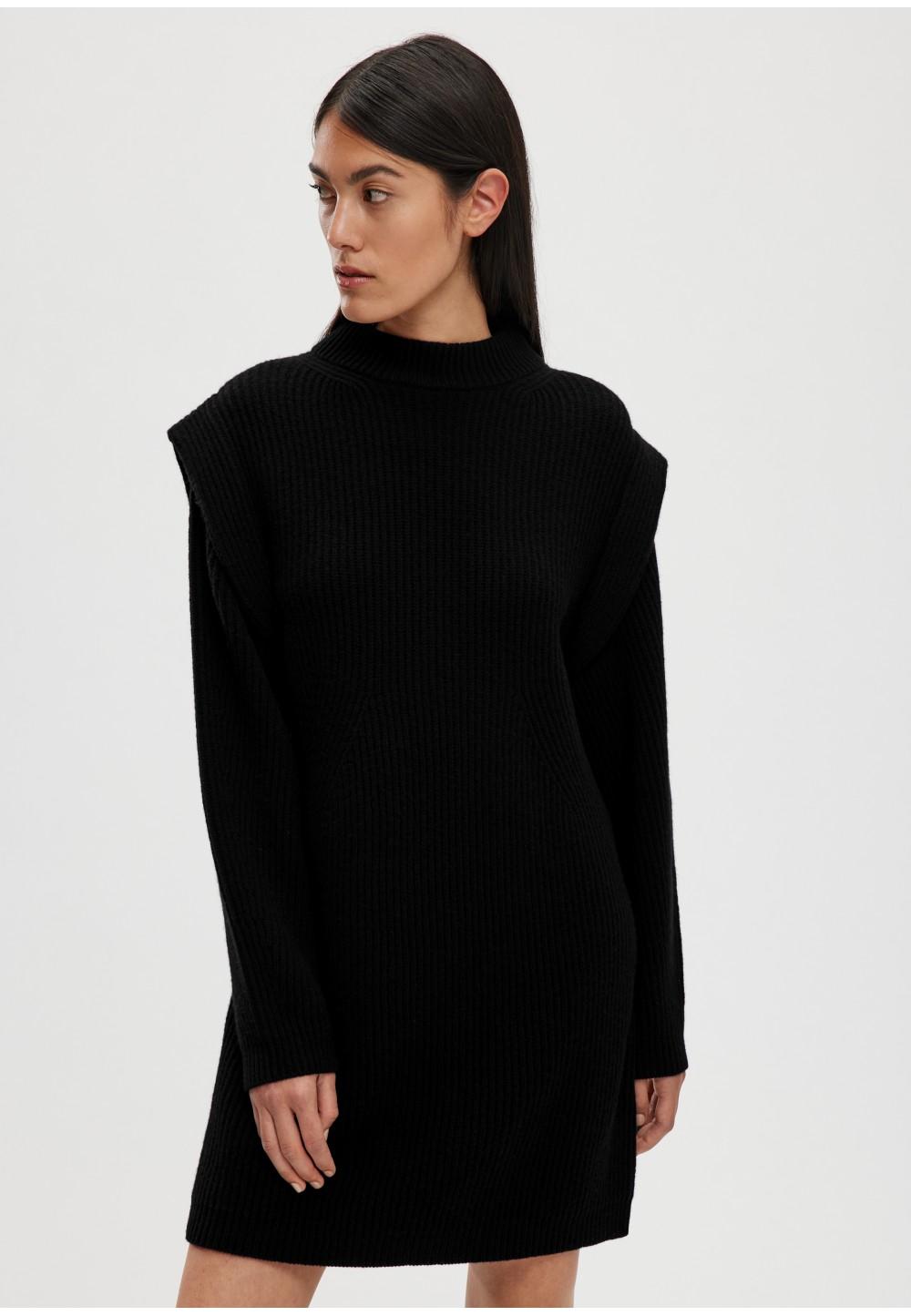 Трикотажное платье из высококачественной 100% шерсти