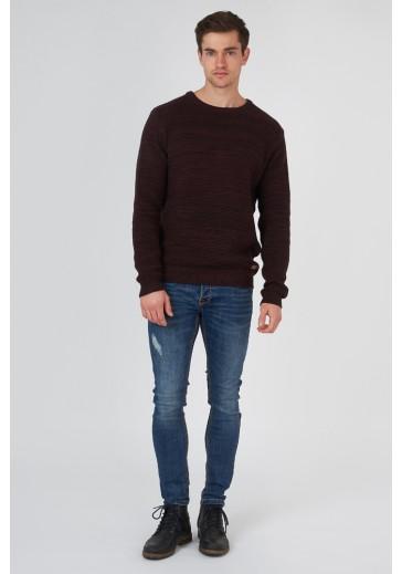 Бордовий трикотажний светр