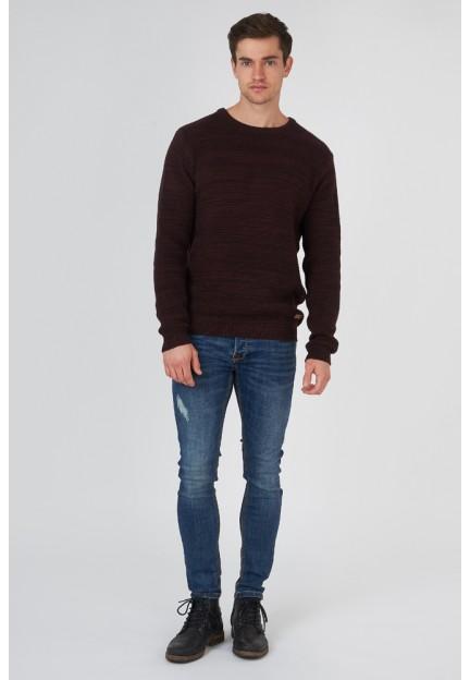 Бордовый трикотажный свитер