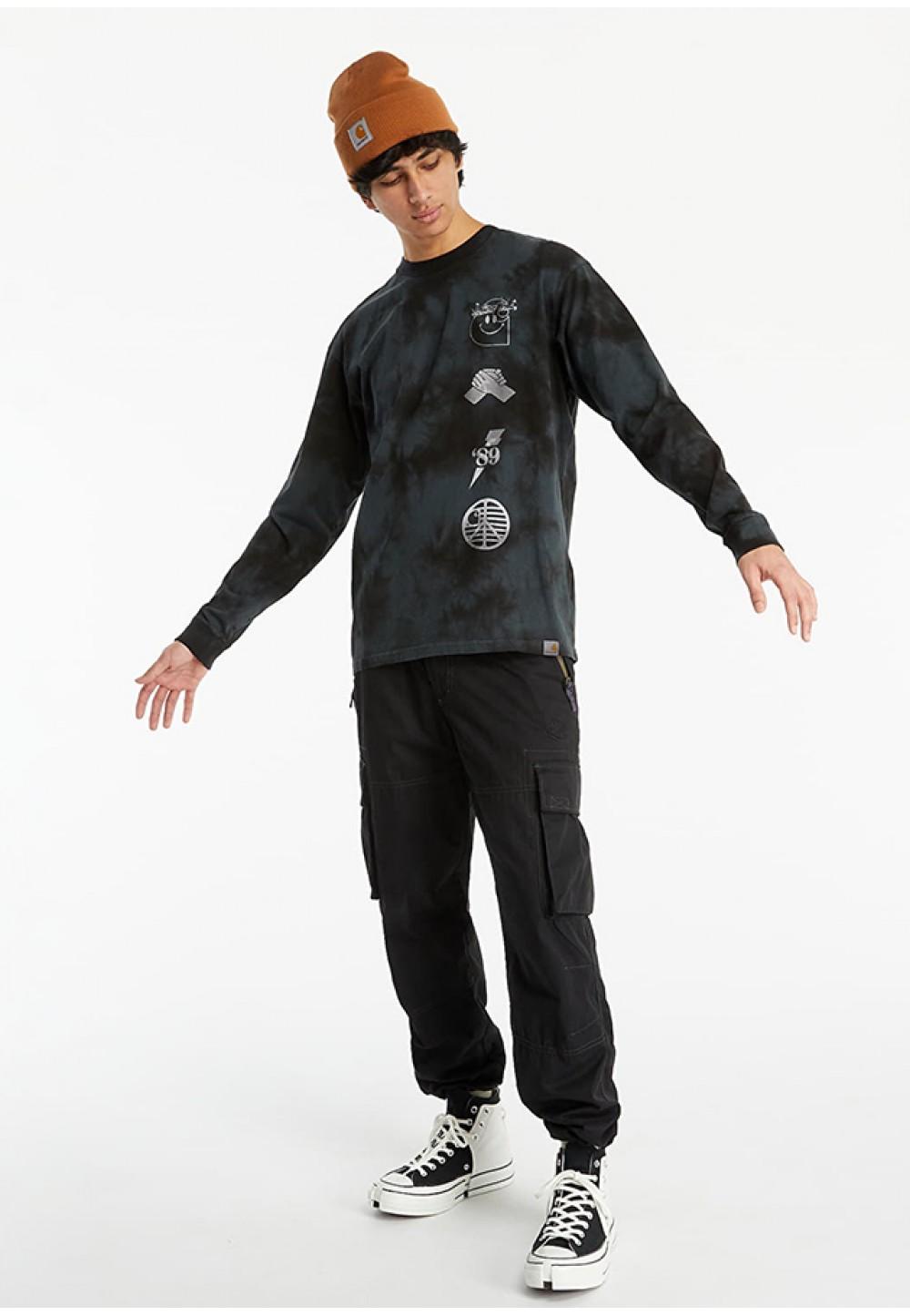 Принтованная футболка с длинным рукавом