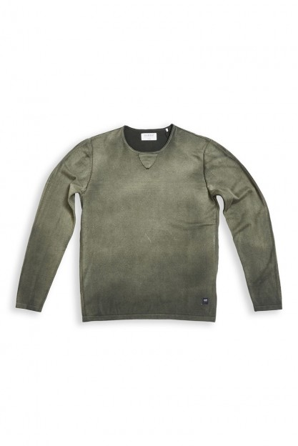 Хлопковый свитшот серого цвета