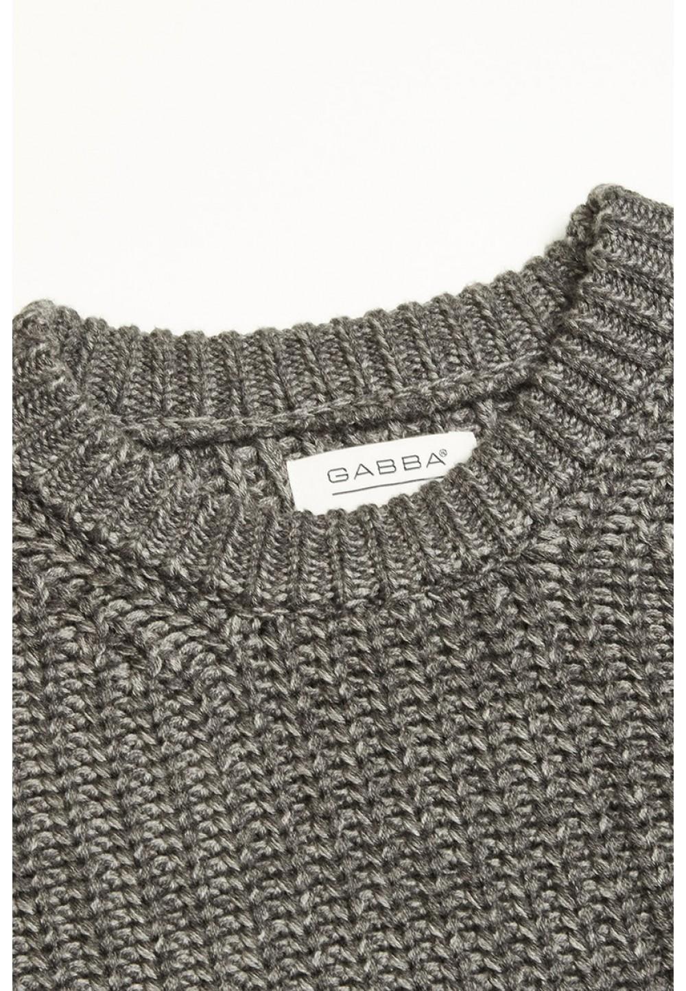 Теплий светр великої в'язки