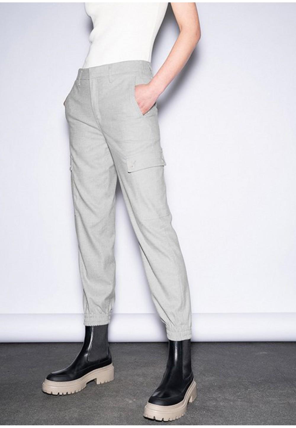 Стильные женские брюки серого цвета