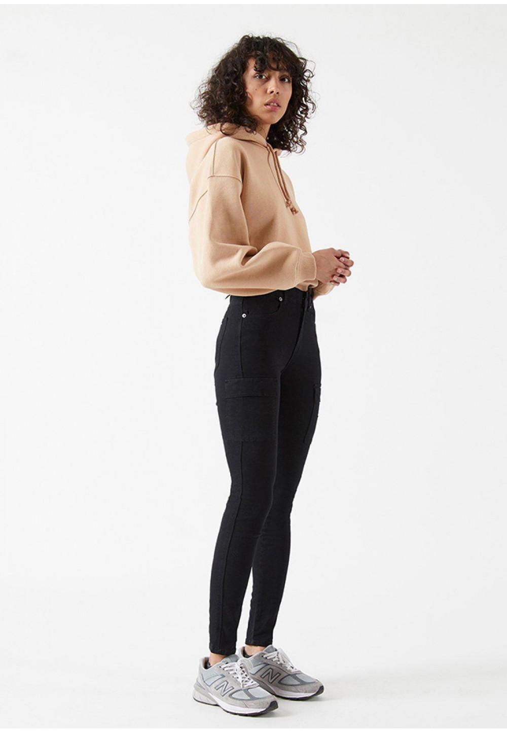 Черные джинсы-скини Lexy Cargo