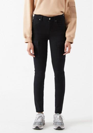 Чорні джинси-скіни Lexy Cargo