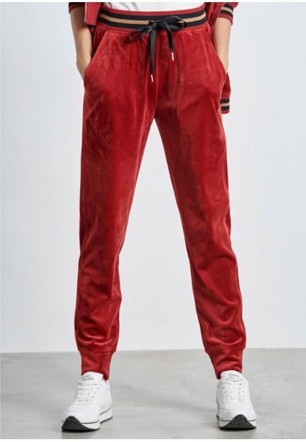 Велюровые брюки винного цвета