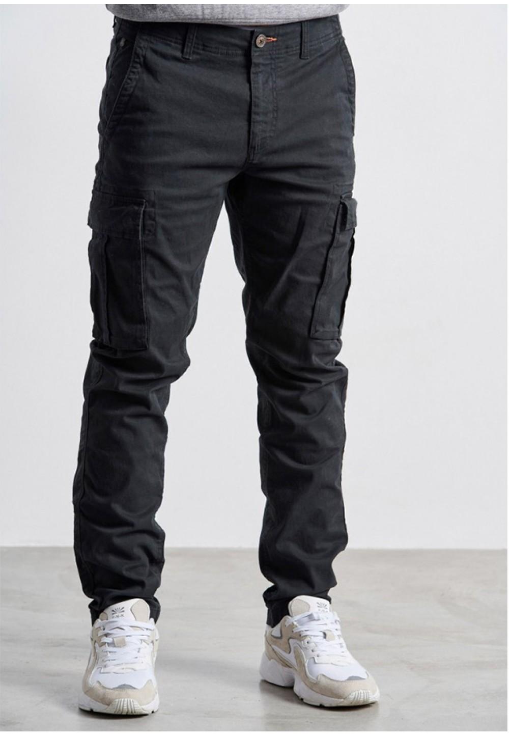 Мужские черные зауженные брюки