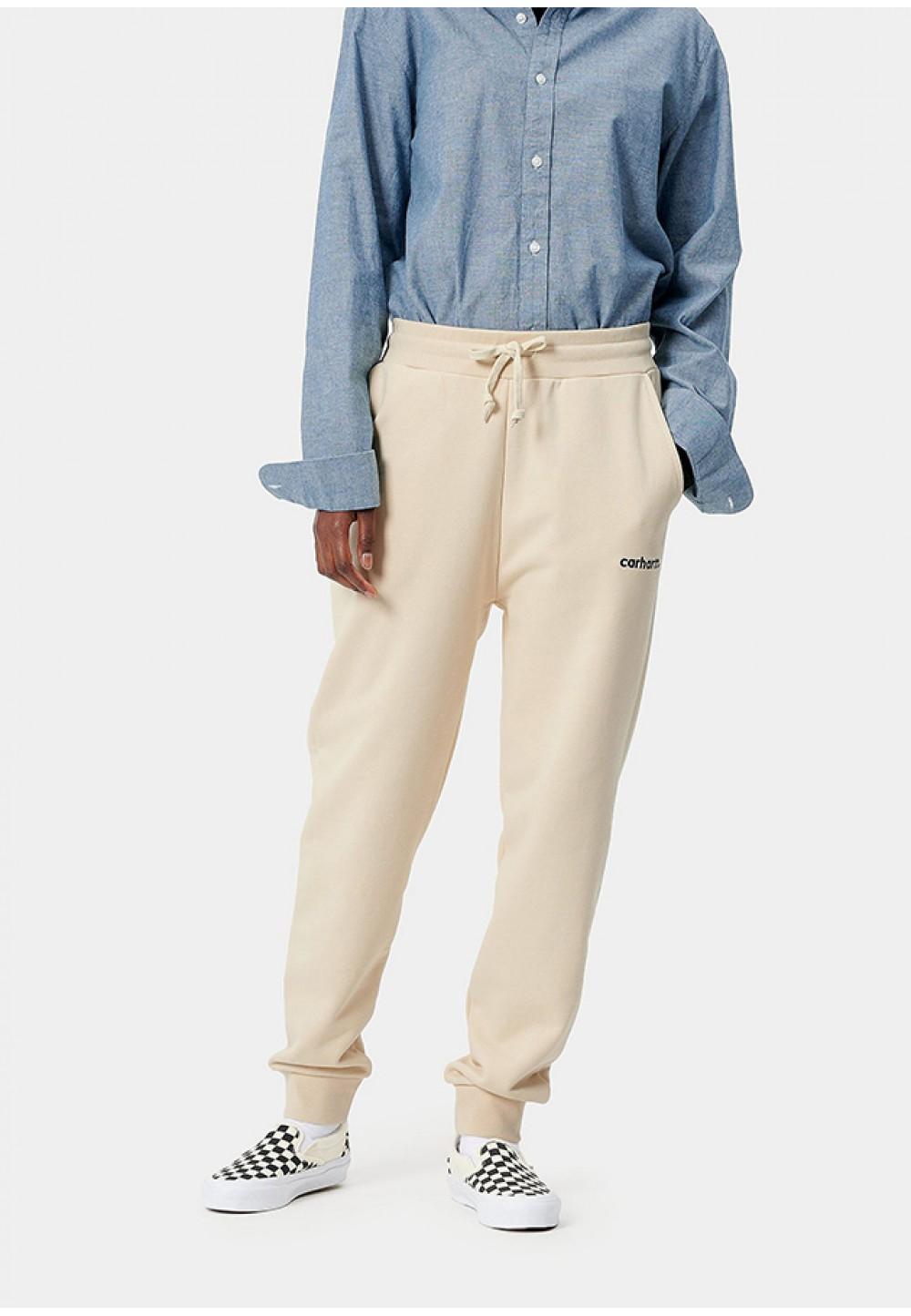 Стильні спортивні штани молочного кольору