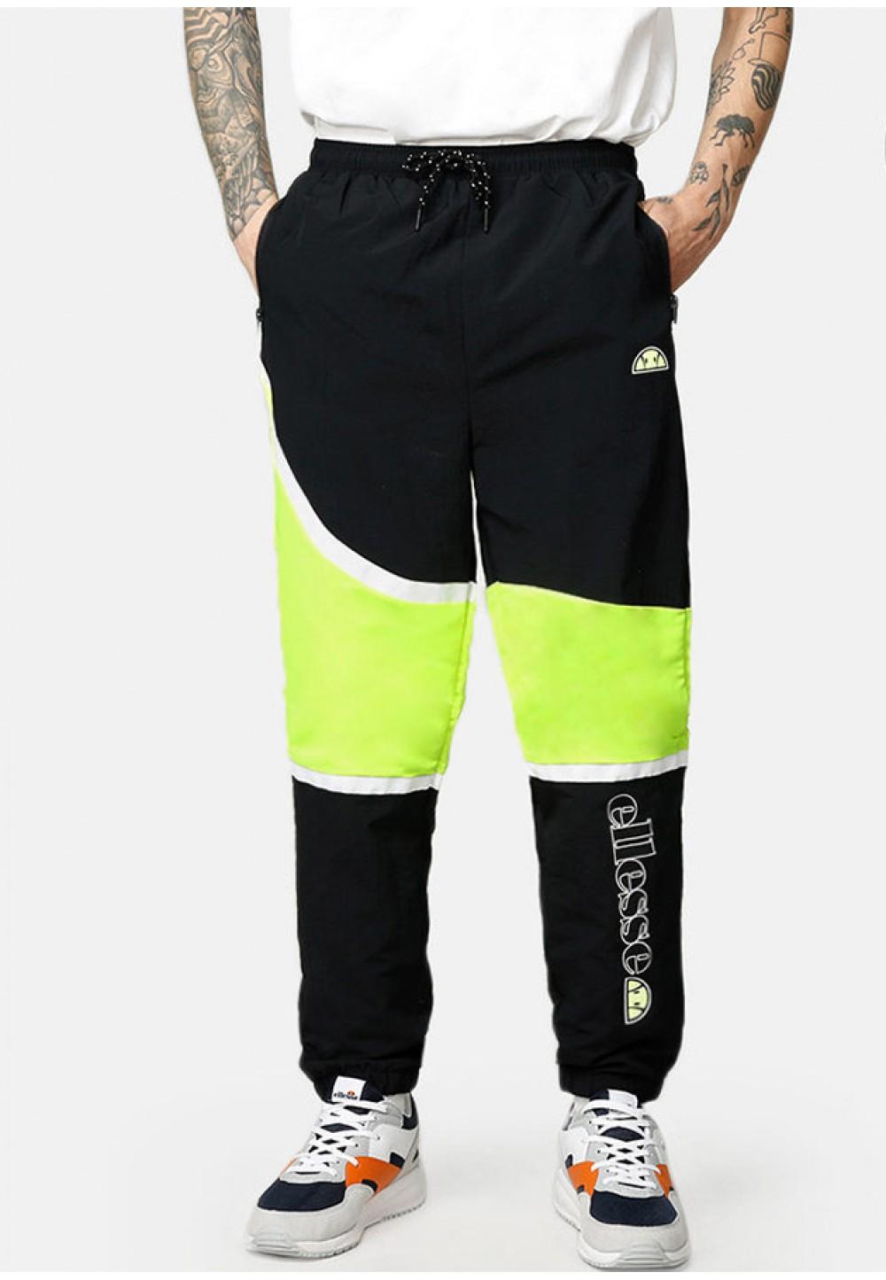 Черные брюки с неоновыми вставками
